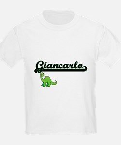 Giancarlo Classic Name Design with Dinosau T-Shirt