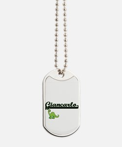 Giancarlo Classic Name Design with Dinosa Dog Tags