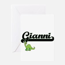 Gianni Classic Name Design with Din Greeting Cards
