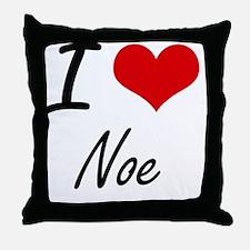 I Love Noe Throw Pillow
