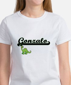 Gonzalo Classic Name Design with Dinosaur T-Shirt