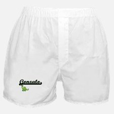 Gonzalo Classic Name Design with Dino Boxer Shorts