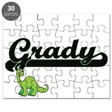 Grady Classic Name Design with Dinosaur Puzzle