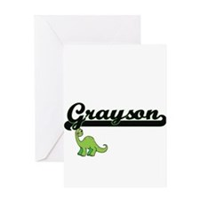 Grayson Classic Name Design with Di Greeting Cards