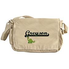 Greyson Classic Name Design with Din Messenger Bag