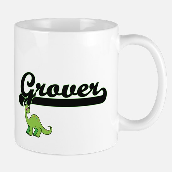 Grover Classic Name Design with Dinosaur Mugs