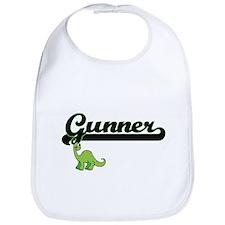 Gunner Classic Name Design with Dinosaur Bib