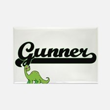 Gunner Classic Name Design with Dinosaur Magnets