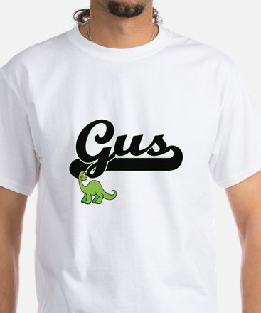 Gus Classic Name Design with Dinosaur T-Shirt