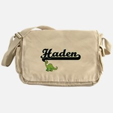 Haden Classic Name Design with Dinos Messenger Bag