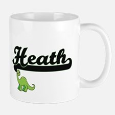 Heath Classic Name Design with Dinosaur Mugs