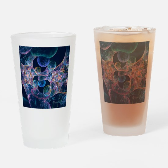 Iridescent Bubbles Drinking Glass