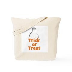 Trick or Treat (ghost) Tote Bag