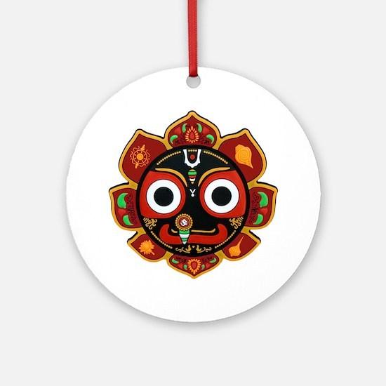 Cute Hare krishna Round Ornament