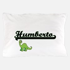 Humberto Classic Name Design with Dino Pillow Case