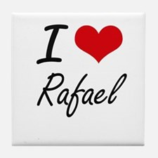 I Love Rafael Tile Coaster