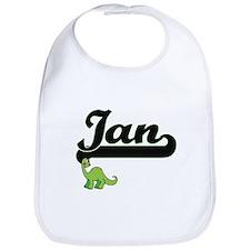Ian Classic Name Design with Dinosaur Bib
