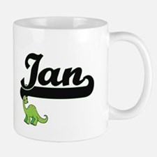 Ian Classic Name Design with Dinosaur Mugs