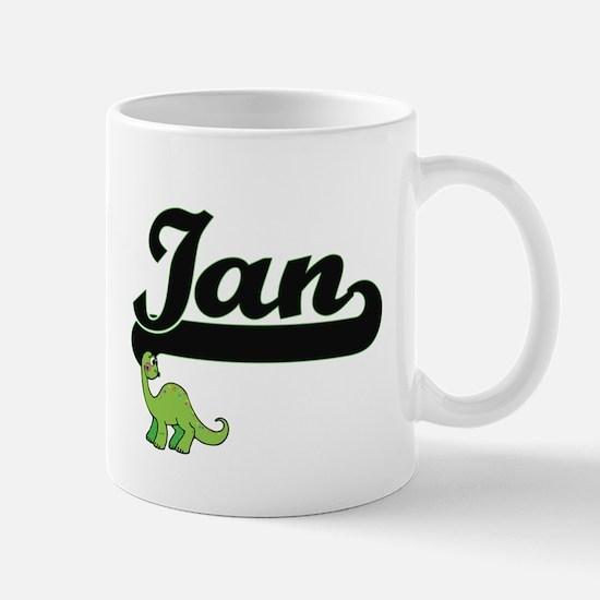 Ian Classic Name Design with Dinosaur Mugs