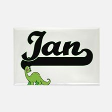 Ian Classic Name Design with Dinosaur Magnets
