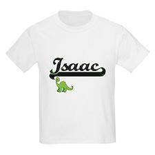 Isaac Classic Name Design with Dinosaur T-Shirt