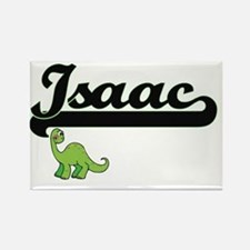 Isaac Classic Name Design with Dinosaur Magnets
