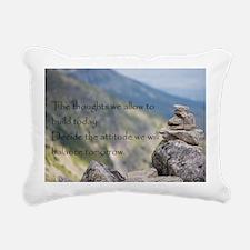 Cute Motivational stones Rectangular Canvas Pillow