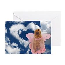 Angel Shar Pei Greeting Card