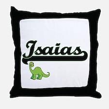 Isaias Classic Name Design with Dinos Throw Pillow