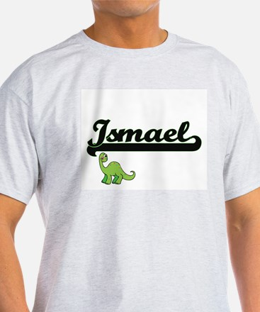 Ismael Classic Name Design with Dinosaur T-Shirt
