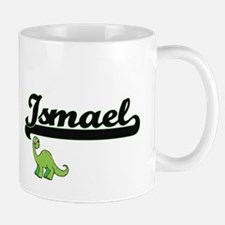 Ismael Classic Name Design with Dinosaur Mugs