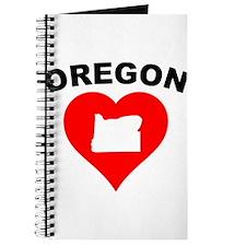 Oregon Heart Cutout Journal