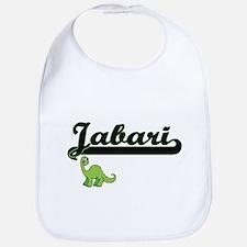 Jabari Classic Name Design with Dinosaur Bib