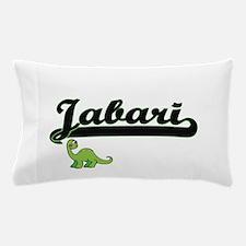 Jabari Classic Name Design with Dinosa Pillow Case