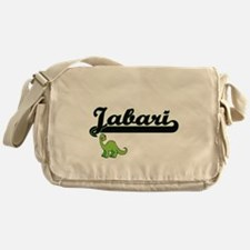 Jabari Classic Name Design with Dino Messenger Bag
