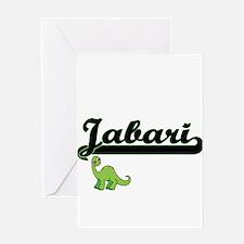 Jabari Classic Name Design with Din Greeting Cards