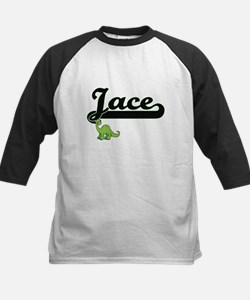 Jace Classic Name Design with Dino Baseball Jersey