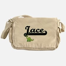 Jace Classic Name Design with Dinosa Messenger Bag