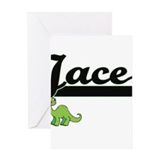 Jace Classic Name Design with Dinos Greeting Cards