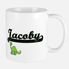 Jacoby Classic Name Design with Dinosaur Mugs
