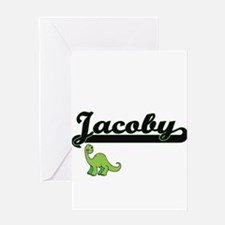 Jacoby Classic Name Design with Din Greeting Cards