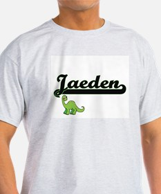Jaeden Classic Name Design with Dinosaur T-Shirt