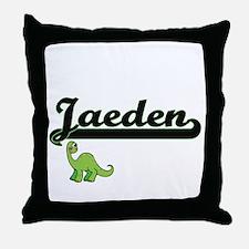 Jaeden Classic Name Design with Dinos Throw Pillow
