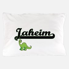 Jaheim Classic Name Design with Dinosa Pillow Case