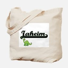 Jaheim Classic Name Design with Dinosaur Tote Bag