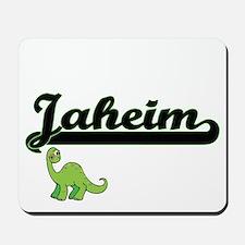 Jaheim Classic Name Design with Dinosaur Mousepad