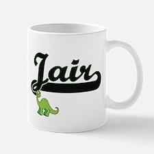 Jair Classic Name Design with Dinosaur Mugs