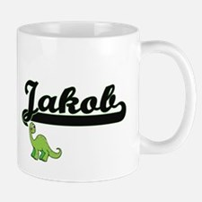 Jakob Classic Name Design with Dinosaur Mugs