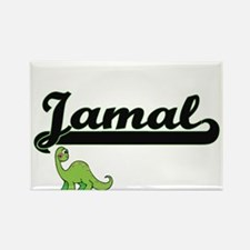 Jamal Classic Name Design with Dinosaur Magnets