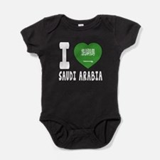 I Love Saudi Arabia Baby Bodysuit
